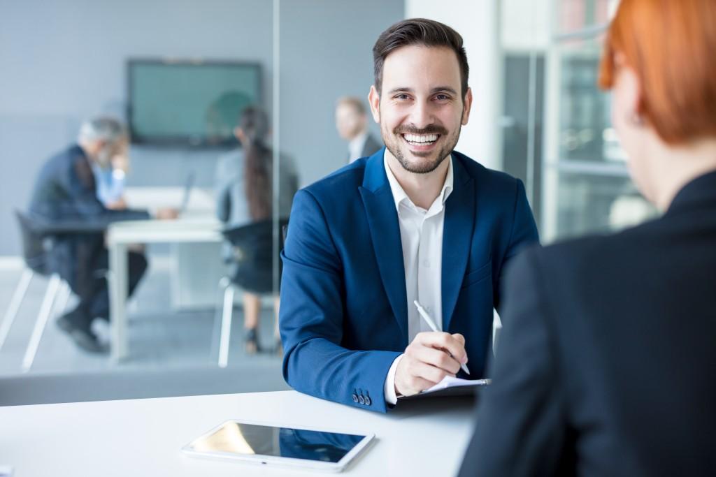 executive smiling
