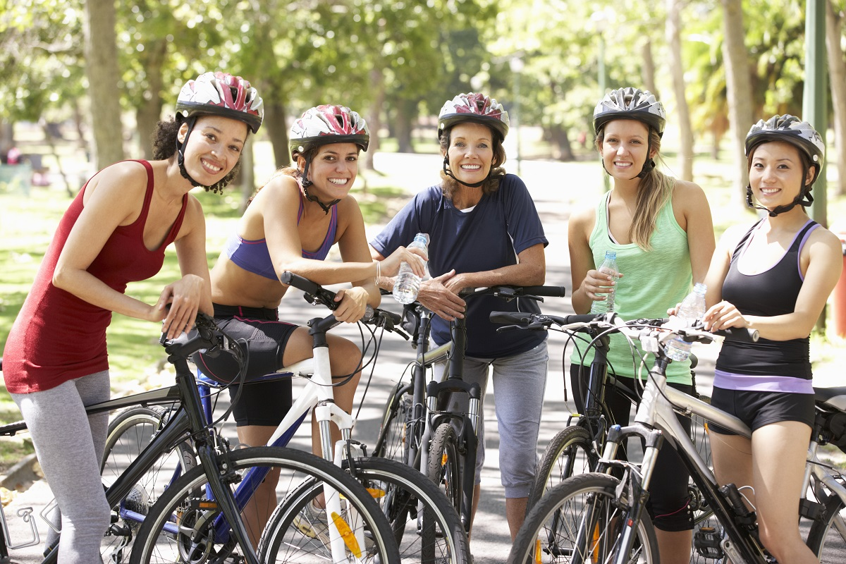 Group of cyclists
