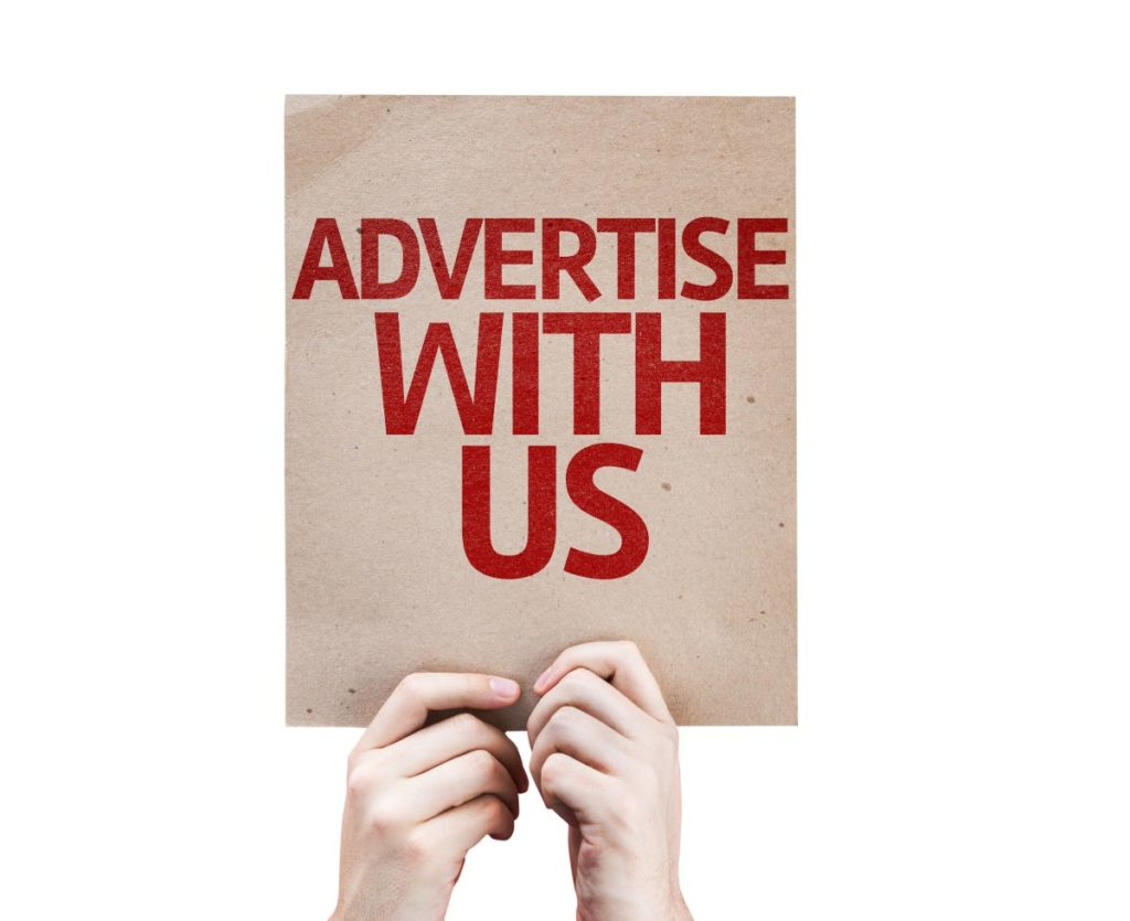 poster that says advertise with us
