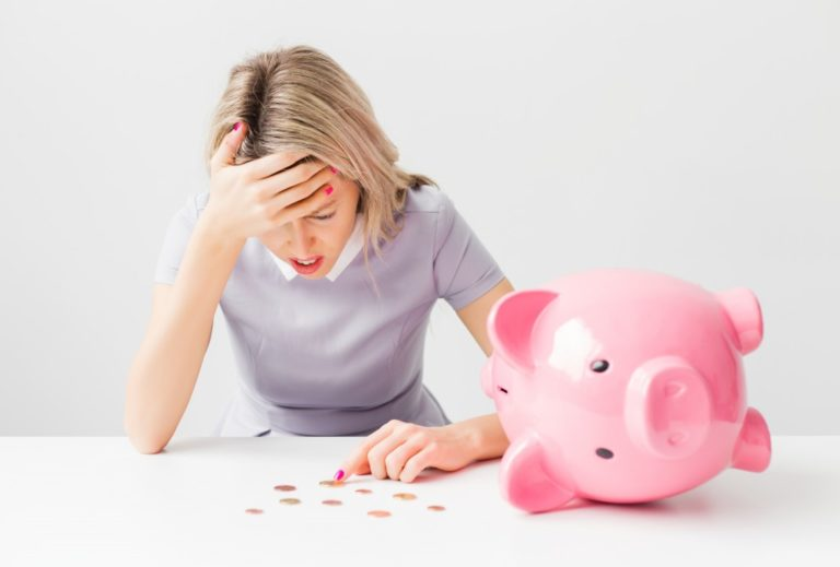 woman feeling problematic about finances