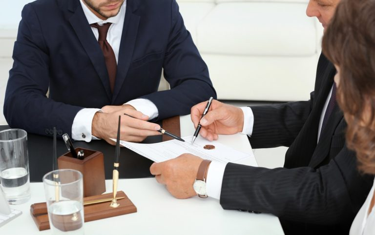 lawyer and clients