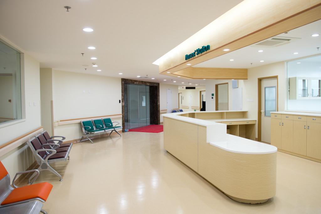 business reception area