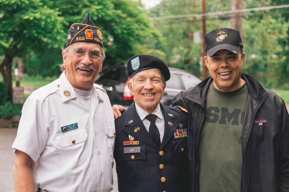 veterans smiling