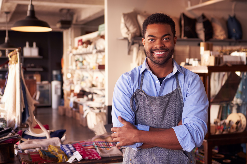 business owner smiling
