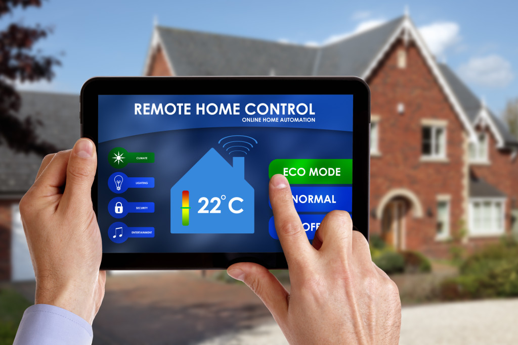 controlling home thru a tablet